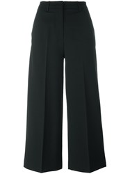 Moncler Cropped Tailored Trousers Black