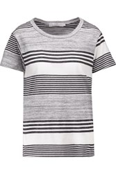 Kain Label Abilene Striped Modal T Shirt Charcoal