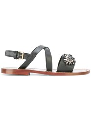 Marni Embellished Strappy Sandals Black