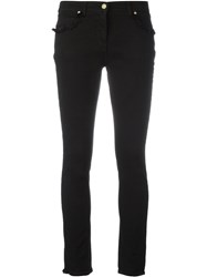 Etro Frayed Trim Jeans Black