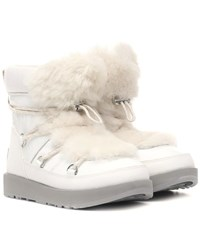 Ugg Highland Waterproof Ankle Boots White