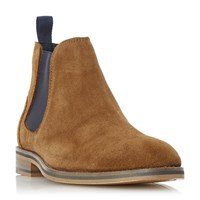 Howick Moses Contrast Gusset Chelsea Boots Tan