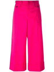 N 21 No21 Wide Legged Cropped Trousers Pink Purple