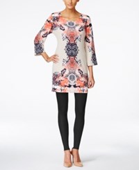 Styleandco. Style And Co. Printed Shift Dress Only At Macy's Scarf Floral