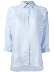 Fay Three Quarter Sleeve Shirt Blue