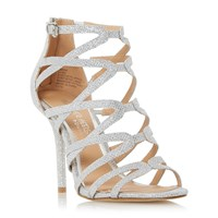 Head Over Heels Memi Caged Sandals Silver