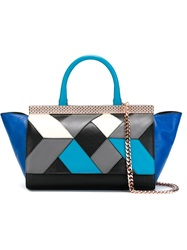 Just Cavalli Geometric Pattern Tote Black