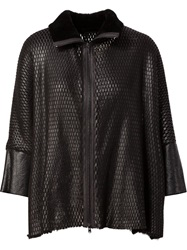 Lost And Found Laser Cut Loose Fit Jacket Black
