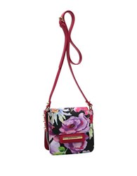 Braccialini Cristina Floral Crossbody Bag Black