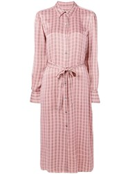 Equipment Classic Check Shirt Dress Pink