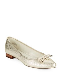 Anne Klein Ovi Pointed Toe Leather Flats Light Gold