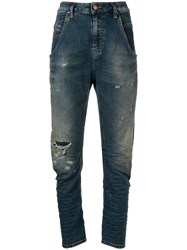 Diesel Faded Slim Fit Jeans Blue