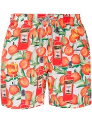 Mc2 Saint Barth Spritz Time Swim Shorts Orange