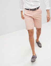 Solid Slim Fit Chino Short In Pink Pink
