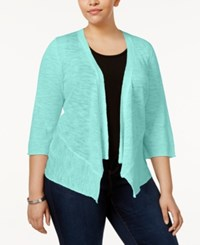 Alfani Plus Size Open Front Cardigan Only At Macy's Tear Drop