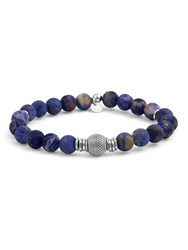 Tateossian Beaded Bracelet Blue