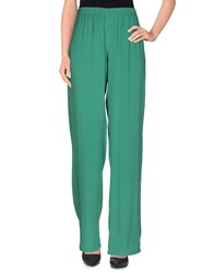 Peacock Blue Trousers Casual Trousers Women Green
