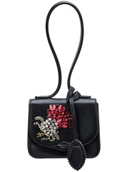 Rochas Crystal Embellished Clutch Black
