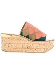 Chloe Camille Wedge Sandals Multicolour