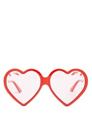 Gucci Heart Shaped Frame Sunglasses Red Multi