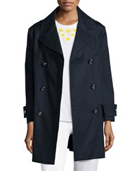 Red Valentino Long Sleeve Cotton Trenchcoat Blue Women's