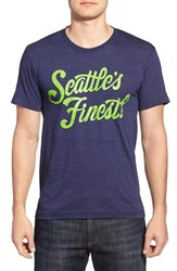 Men's Casual Industrees 'Seattle's Finest' Graphic Crewneck T Shirt