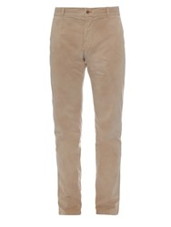 Tomas Maier Faded Brushed Stretch Cotton Chino Trousers