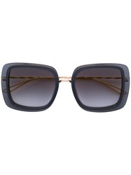 Elie Saab Square Frame Sunglasses Acetate Metal Other Metallic