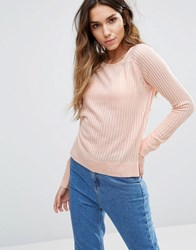 Only Ribbed Jumper Peachy Keen Pink