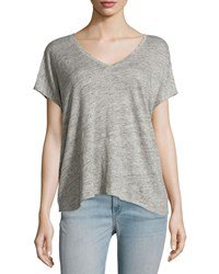 Rag And Bone Malibu Linen V Neck T Shirt Heather Gray Women's Heather Grey