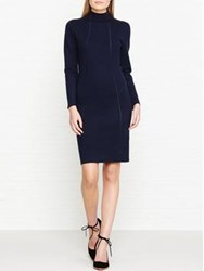 Reiss Daphne Bodycon Knitted Dress Navy