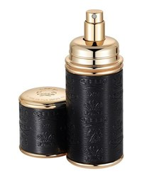 Creed Green Irish Tweed Filled Black With Gold Trim Leather Atomizer 50 Ml