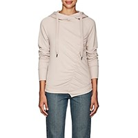 Nsf Ruched Cotton Blend Fleece Hoodie Crepe Light Pink