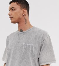 Heart And Dagger T Shirt With Embroidered Logo White
