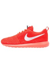 Nike Sportswear Flyknit Roshe One Trainers Bright Crimson White University Red