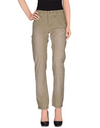 9.2 By Carlo Chionna Trousers Casual Trousers Women Military Green