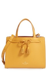 Kate Spade New York Hayes Street Small Isobel Leather Satchel Yellow Saffron