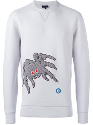 Lanvin 'Groovin Spider' Embroidered Sweatshirt Grey