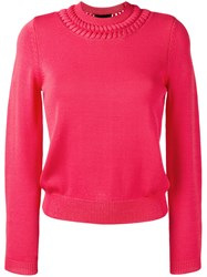 Emporio Armani Crewneck Knit Sweater Pink Purple