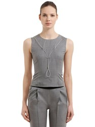 Alyx Sleeveless Wool Top W Metal Wire Grey