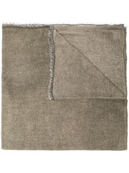Faliero Sarti Fine Knit Scarf Nude And Neutrals
