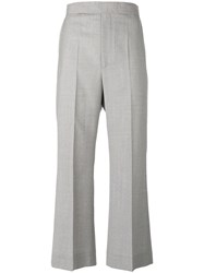 Celine Tailored Cropped Trousers Grey