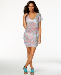 Anne Cole Multicolor Sheer Tunic Cover Up Women's Swimsuit