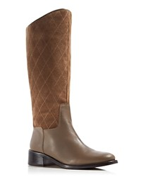 Donald J Pliner Zena Quilted Tall Boots Taupe