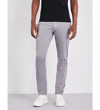 Armani Jeans Slim Fit Tapered Stretch Cotton Chinos Grey