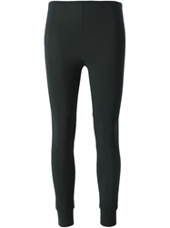 High 'Halt' Stretch Leggings Black