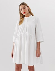 Only Smock Shirt Dress Cream