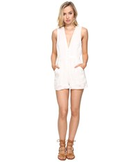 The Jetset Diaries Horizon Romper Ivory Women's Jumpsuit And Rompers One Piece White