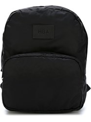Hood By Air Logo Patch Backpack Black