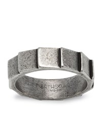 Northskull Layers Silver Ring Unisex
